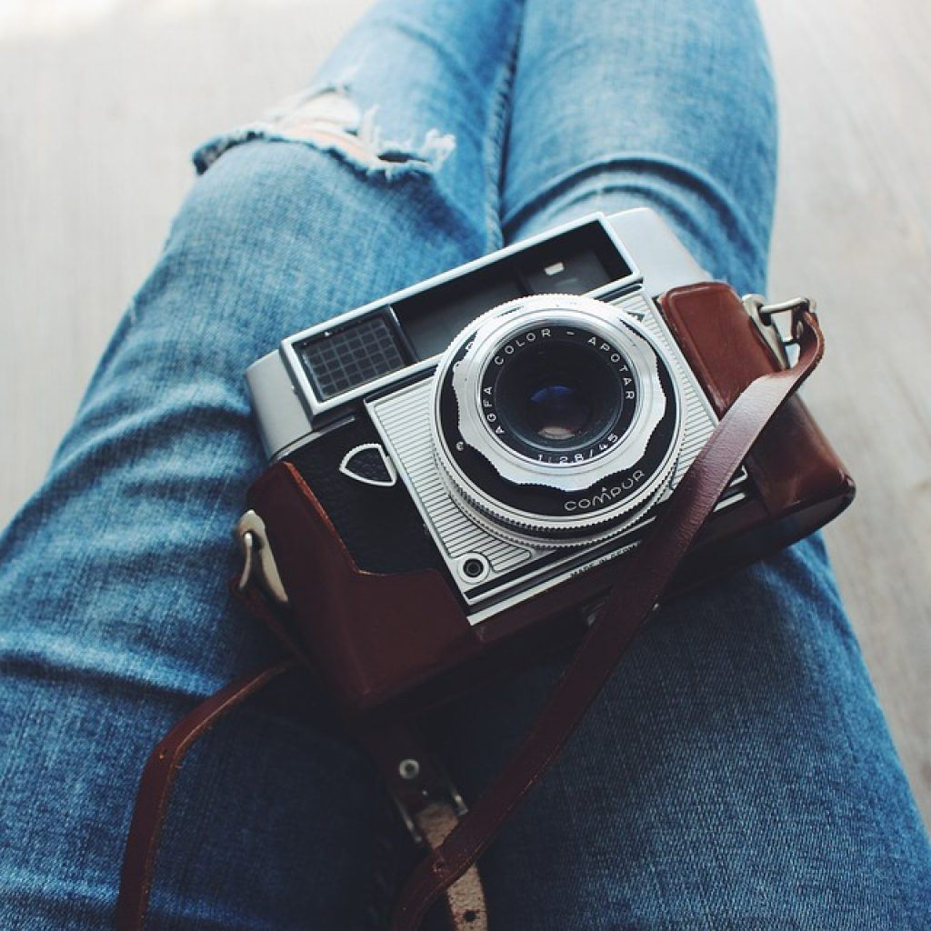 Blue jeans and camera