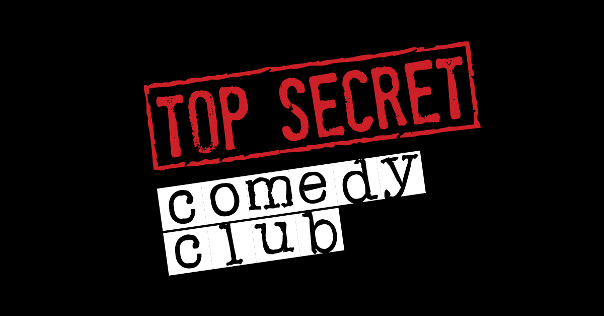 top secret comedy club logo