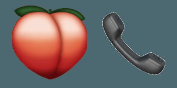 peach and phone