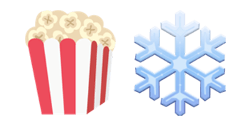 popcorn and snowflake
