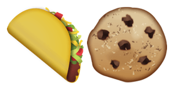 taco and cookie emojis